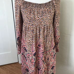 Anthropologie Paisley Peasant Dress